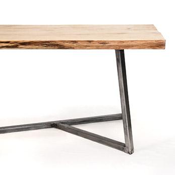 Nutsandwoods oak steel table for Table 140 x 70